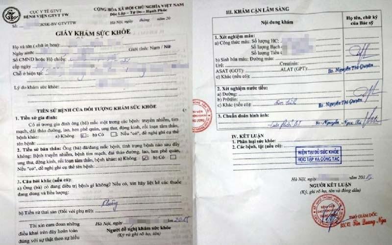 Thủ tục làm giấy khám sức khỏe cho người nước ngoài tại Việt Nam